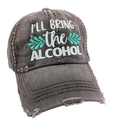 Loaded Lids Women's Customized I'll Bring The Alcohol Bad Decisions Baseball Cap Dark Grey customized