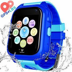 Jesam Kids Waterproof Smart Watch Phone - Children Water Resistant Gps Tracker Watch With Call Talkie Walkie Games Sports Wristband For Boys Girls 01 S8