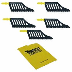 5 X Sabrecut JSSC2074_5 T Shank Hcs Wood Flush Cutting DT2074 Jigsaw Blades For Dewalt Bosch And Many Others