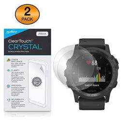 Garmin Tactix Charlie Screen Protector Boxwave Cleartouch Crystal 2-PACK HD Film Skin - Shields From Scratches For Garmin Tactix Charlie
