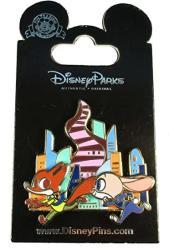 Disney Pin - Zootopia - Nick Wilde And Judy Hopps