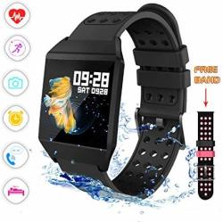 Smart Watch Fitness Tracker Activity Tracker Heart Rate Monitor Sms&sns Reminder Tacking Sports Pedometer Watch Compatible With Ios Android Phones Bluetooth Smartwatch IP67 Waterproof