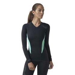 Unen Sub Sports Womens Long Sleeve Compression Top Running Vest Moisture Wicking XXL