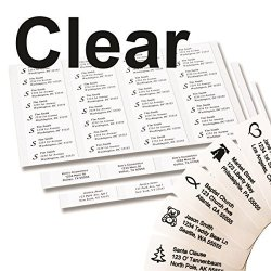 500LABELS Return Address Labels - 500 Personalized Labels On Sheets Clear