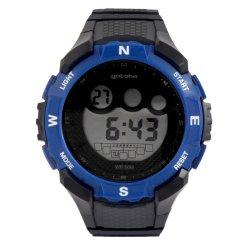 Gotcha - Gents 50M Wr Chunky Black And Blue Digital Watch