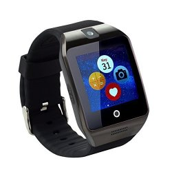 TopePop Touch Screen Smart Watch With Camera Bluetooth Wrist Watch Support Sim Card For Android Smar