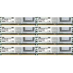 16GB Kit 8 X 2GB For Dell Poweredge Series 1900 1950 2900 2900 Iii. Dimm DDR2 Ecc Fully Buffered PC2-5300 667MHZ RAM Memory. Genuine A-tech Brand.