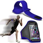 I-Sonite Blue Adjustable Sweatproof water Resistent Sports Fitness Running Cycling Gym Armband Phone Case For Huawei Y3 2017