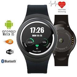 InDigi Hot Smart Watch U-watch Bluetooth Phone Foriphone 5S Samsung Android Htc Black