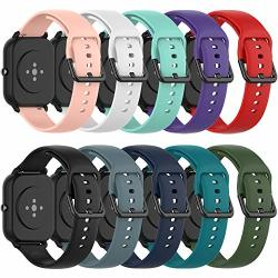 Qghxo Band Replacement For Amazfit Gts Soft Silicone Band Replacement For Amazfit Gts gtr 42MM Bip bip Lite Smart Watch No Tracker Replacement Bands Only
