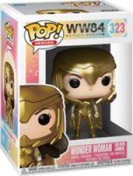 Pop Heroes: WW84 Wonder Woman - Wonder Woman Vinyl Figure Golden Armor With Helmet