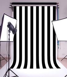 Laeacco 6X8FT Vinyl Photography Background Black And White Stripes Backdrop Party Artistic Children Adults Photo Backdrop 1.8 W X2.5 H M Photo Studio Prop