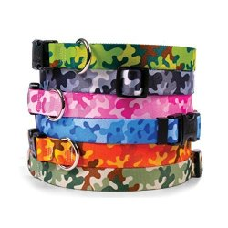 Yellow Dog Design Camouflage Dog Collar - With Tag-a-long Id Tag System - Camo - Small 10 To 14 Inch Length X 3 4 Inch Wide