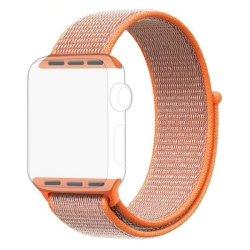 Orange Apple Watch Strap Band Nylon Loop 38 40MM - Series 1 2 3 4