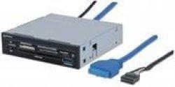 "Manhattan Multi-card Reader writer - Superspeed USB 3.0 3.5"" Bay Mount 48-IN-1 Retail Box Limit"
