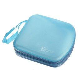 40 Disc Cd DVD Vcd Dj Storage Media Holder Sleeve Case Hard Box Wallet Carry Bag Blue