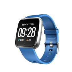 Y7 1.3 Inch Ips Color Screen Smart Bracelet IP67 Waterproof Support Call Reminder Heart Rate Monitoring Pedometer Blood Pressure Monitoring Remote Photo Dark Blue
