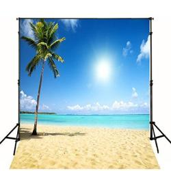 Ft 10X10 Tropical Beach Backdrop Wedding Photography Wallpaper Cloth Digital Beautiful Sea Sand Beach Scenic Photographic Backgr