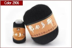 China Best Quality 100% Mongolian Cashmere Hand-knitted Cashmere Yarn Wool Cashmere Knitting Yarn Ball Scarf Wool Yarny Baby 50 Grams 2906 Black