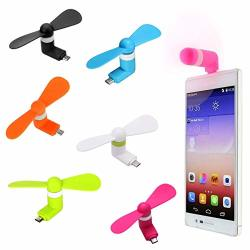 MINI USB Fan 6-PACK Portable Phone Fan Outdoor Cooling Fan Cool Cooler Rotating Fan For Android Smartphone Devices Samsung Galaxy S7 S7 Edge 6