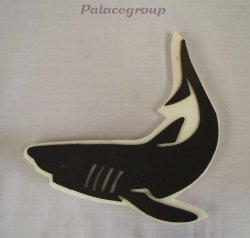 Decor Stamps Paintcraft Shark 11CM X 10CM Ating Walls-doors-ceilings-wood-fabric-paper