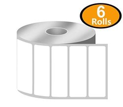 """Betckey - 3"""" X 1"""" Upc Barcode & Address Labels Compatible With Zebra & Rollo Label Printer Premium Adhesive & Perforated 6 Rolls 8250 Labels"""