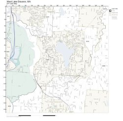 Working Maps Zip Code Wall Map Of West Lake Stevens Wa Zip Code Map Laminated