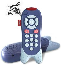 USA Jonzoo Baby Music Tv Remote Control Toy Electronic Learning Toy Early Education Toy Ideal Gift For Toddler Kids Blue