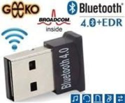 Geeko Ultra-mini Bluetooth V4 0+EDR USB Class 2 Dongle Broadcom BCM20702  Chipset | R121 89 | Bluetooth Adapters | PriceCheck SA