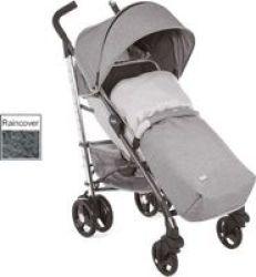 Chicco Lite Way 3 Basic Stroller With Bumper Bar Titanium