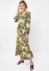 Edit Soft Tiered Midi Dress - Multi