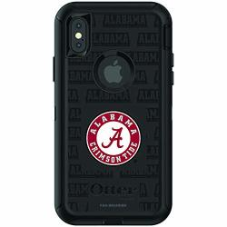Fan Brander Nba Phone Case Compatible With Apple Iphone Xr With Otterbox Defender With Repeating Design Alabama Crimson Tide