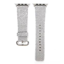 Glitter Line 42MM Band For Apple Watch - Silver