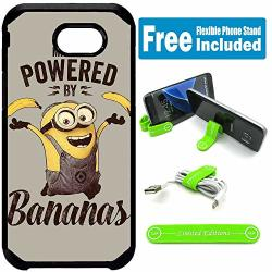 Limited Editions For Samsung Galaxy J3 2017 J3 Prime J3 Emerge Defender Rugged Hard Cover Case - Minions Vint Banana