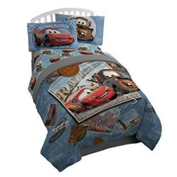 Disney Pixar Cars Tune Up Twin full Comforter - Super Soft Kids Reversible Bedding Features Lightning Mcqueen And Mater - Fade R