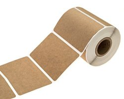 "Sblabels 2"" X 3"" Brown Kraft Rectangle Color Code Labels permanent Adhesive write On Labels - 250 Labels"