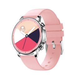 V23 1.28INCH Ips Color Screen Smart Watch IP67 Waterproof Support Heart Rate Monitoring blood Pressure Monitoring blood Oxygen Monitoring sleep Monitoring Pink