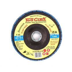 Tork Craft Flap Disc Zirconium 180mm 40grit Angled