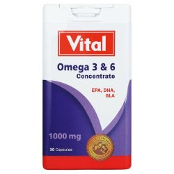 Vital - Omega 3 & 6 Concentrate Capsules 30'S