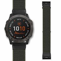 22MM Ponatteno Quickfit Nylon Watch Band For Fenix 6 FENIX 5 Soft Loop Sport Wristband Strap For Garmin Fenix 6 Pro sapphire Fenix 5 FENIX 5 Plus