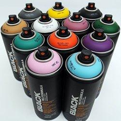 Montana Cans Montana Black 400ML Complementary Colors Set Of 12 Graffiti Street Art Mural Spray Paint