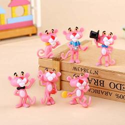 6PCS SET 4.5 Cm Pink Panther MINI Toy Figure Set