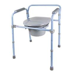 Carex Folding Commode Portable Toilet For Adults And Bedside Commode Chair Foldable