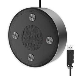 USB Microphone Speakers Cmteck ZM330 Speakerphone - Omnidirectional Desktop Computer Conference MIC With 360 Voice Pickup Mute F