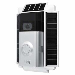 Wasserstein 0.5 Watt Solar Charger Mount Compatible With Ring Video Doorbell 2 Weatherproof White