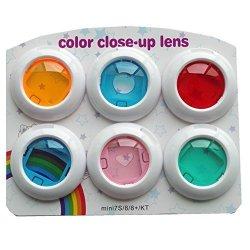 Arcen MINI Close Up Color Colorful Lens Filter Set For Fujifilm Instax MINI 8 8+ 9 Instant Film Camera 6 Piece