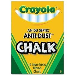 Crayola - 12 Anti Dust Chalk - White