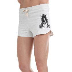 Athletico Medium Ladies A-Logo Shorts in Ice Melange & Black