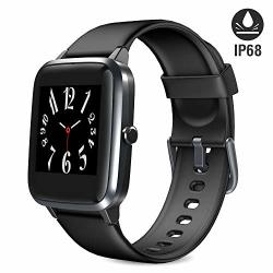 Blackview Smart Watch Fitness Tracker With Heart Rate Sleep Monitor Activity Tracker With 1.3 Full Touch Screen IP68 Waterproof Pedometer Smartwatch Step Counter For