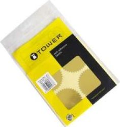 TOWER Notorial Seals 40MM Gold 72 Pack